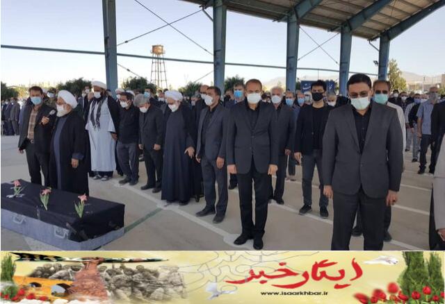 پیکر مادر شهید شهریاری به خاک سپرده شد